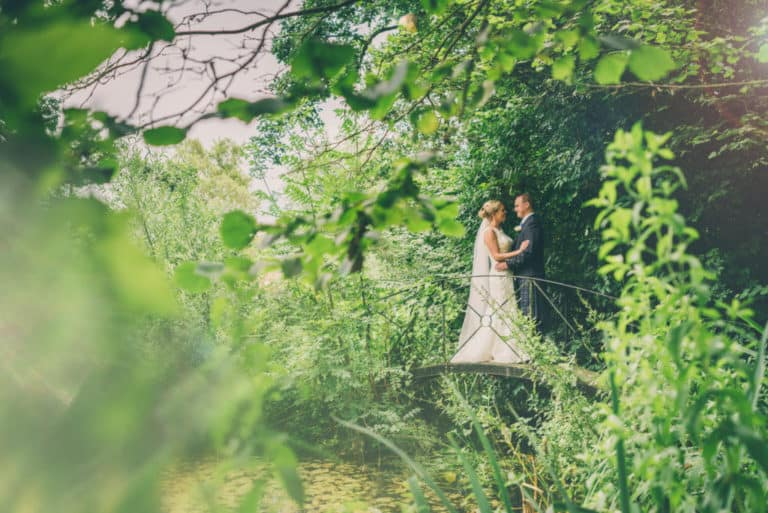 Flanesford Pond Wedding Love Bridge