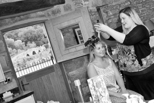 Bride Getting Ready at Flanesford