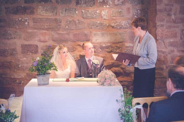 Wedding Ceremony at Flanesford