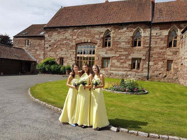 Bridesmaids at Flanesford Weddings