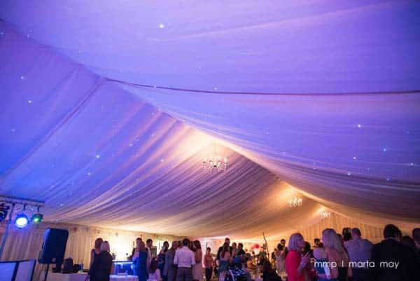 Marquee Dancefloor at Flanesford Weddings