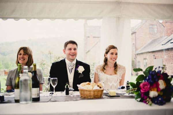 Bride and Groom Speeches at Flanesford Weddings