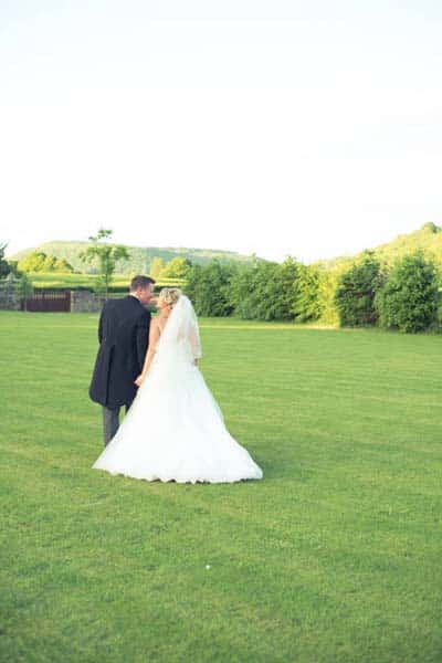 Bride and Groom at Flanesford Weddings